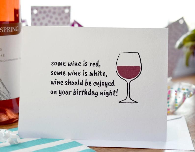 Birthday Card Wine Lover Happy