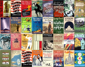 First Editions Poster - Literary Poster - Book Lovers Poster - Hemingway, Fitzgerald, Steinbeck, Woolf, Chandler, Harper Lee, Orwell