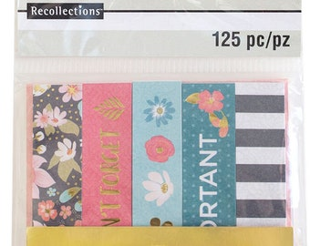 Watercolor Flag Sticky Notes by Recollections - 125pc/pack - Page Marks/Sticky Pads/Page Notes