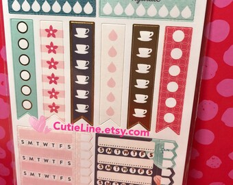 Floral Tracker Plan Stickers by Recollections - 80pc/pack - Floral Label Stickers/Schedule Plan/Checklist