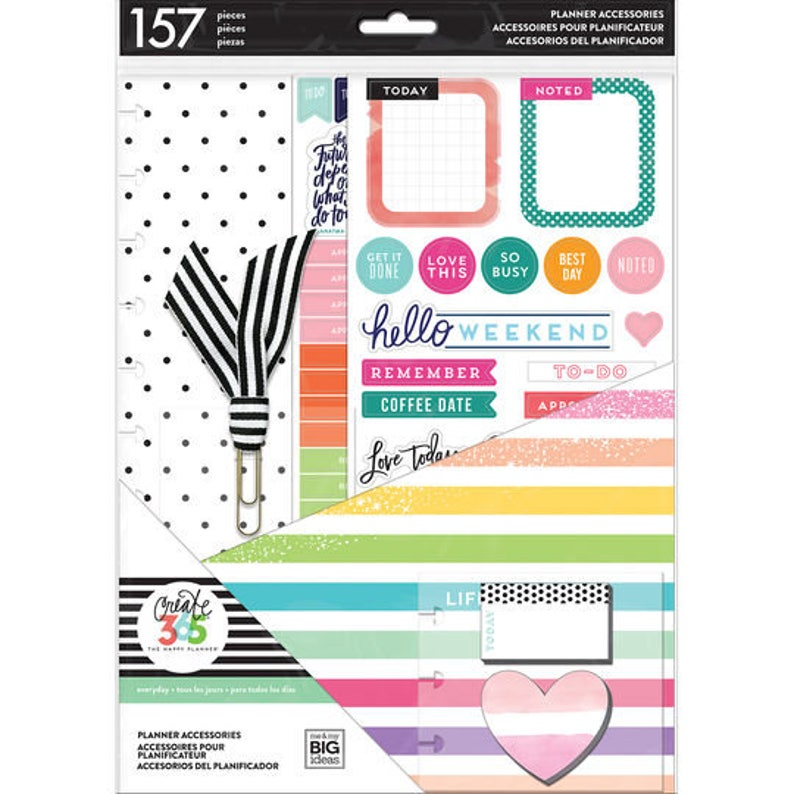 Create 365 The Big Happy Planner Planner Accessories Kit - Life is Lovely -  157pc - Use with BIG Happy Planner