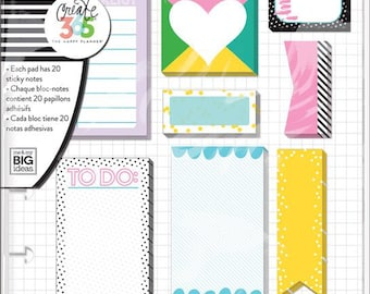 New Happy Planner Sticky Notes - Donut Forget/ Remember / Be There / Bright / Rose Gold - To do Lists/Reminders/Page Marks
