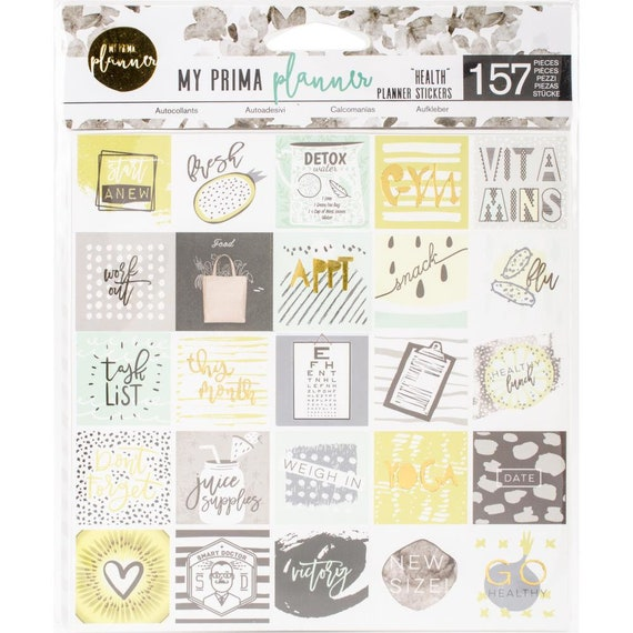 """Prima Planner Stickers Beauty Gold Foil  6/""""x6/"""" 3 Sheets"""