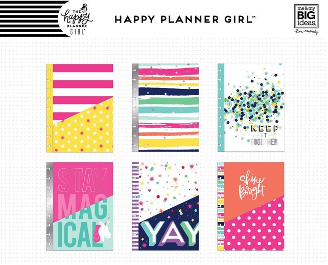 6pcs Trendsetter Happy Planner Girl Planner Pocket Folders - Use with Classic Happy Planner - Silver Foiled Folders