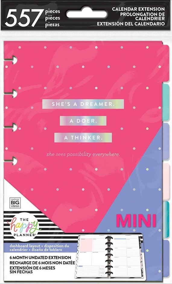 Me and My Big Ideas Happy Planner 6-Month Undated Classic Extension Pack Hourly