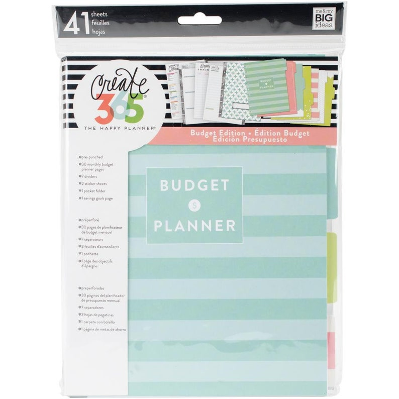 3 Sizes of Happy Planner Budget Extension Pack - Use with MINI/CLASSIC/BIG  Happy Planner/Budget Management/Planner Extensions