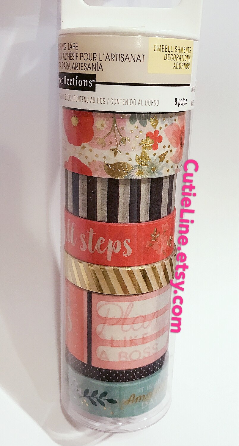 8 Rolls Floral Washi Tubes by Recollections Michaels Flower | Etsy