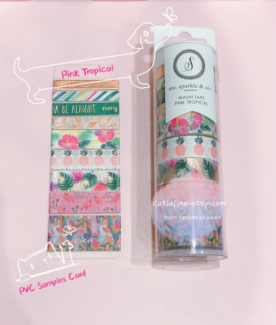 Pink Tropical Washi Tubes Samples Michaels Recollections Etsy