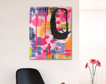 Colorful Abstract Painting, Large Abstract Art, Original Abstract Art, Modern Art, Contemporary Art, Original Painting, Free Shipping