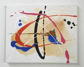Original Abstract Painting Art, Canvas Art, Modern Art, Living Room Décor, Small Wall Art, Affordable Art, Artist's Study