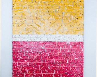 Abstract Wall Art - Metal Wall Art - Large Wall Art - Colorful Wall Art - Red and Yellow Art - Colorful Modern Art - Contemporary Art