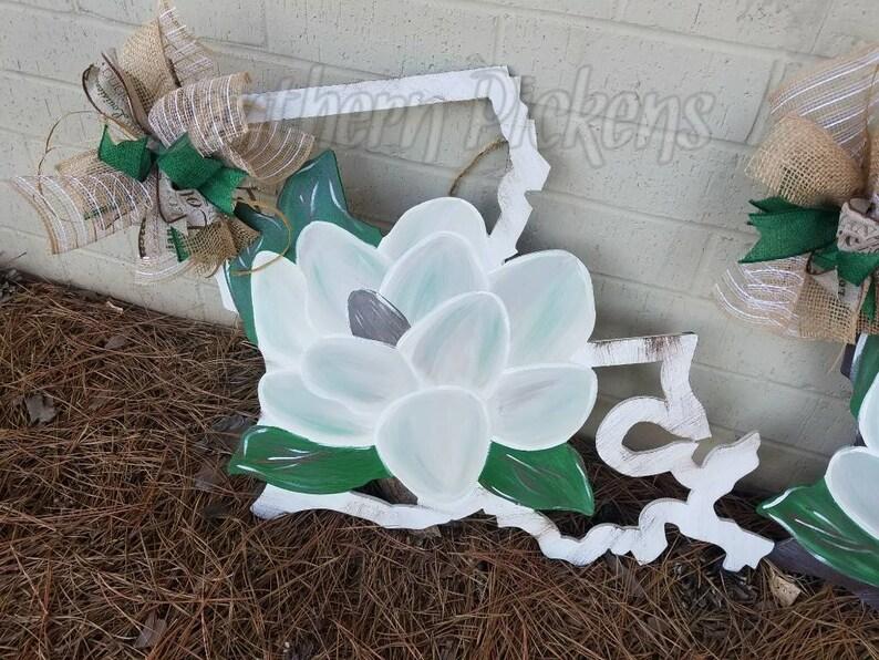 Louisiana Frame Magnolia Door Hanger