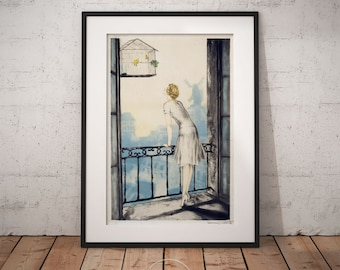 Beautiful Louis Icart   Montmartre, Louis Icart Print, Art Deco, Wall Art, Framed  Print, PP020