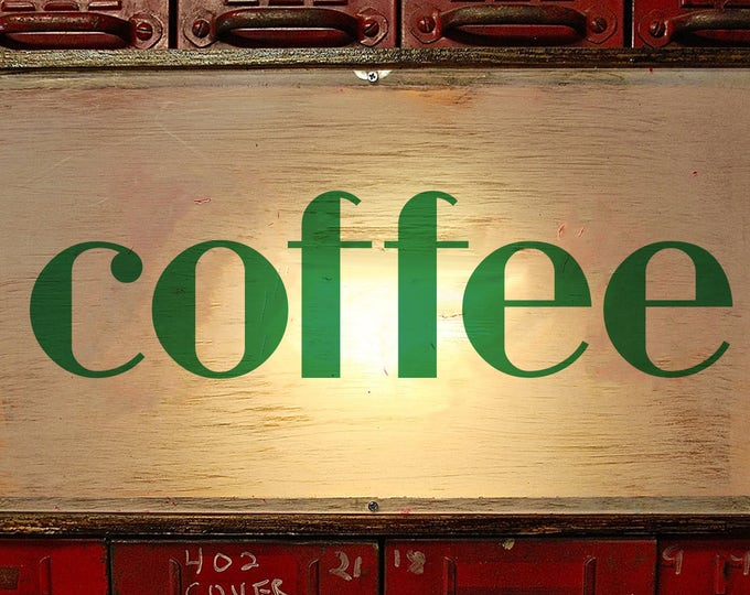 Coffee Sign, Coffee Bar, Coffee Shop Sign, Art Deco, Vintage Coffee Sign, Coffee Shop Decor, Vintage Coffee Shop, LED Coffee Sign, Light Box