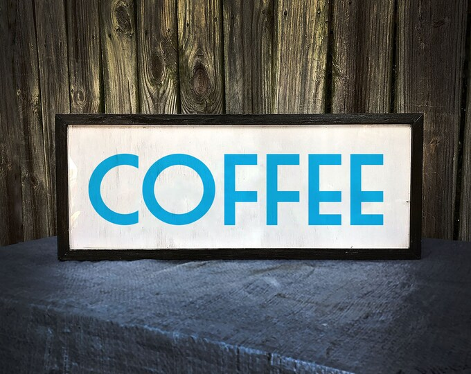 Coffee Sign, Coffee Bar Sign, Coffee Shop Sign, Art Deco, Vintage Coffee Sign, Coffee Shop Decor, LED Sign, Custom Light Box Signl