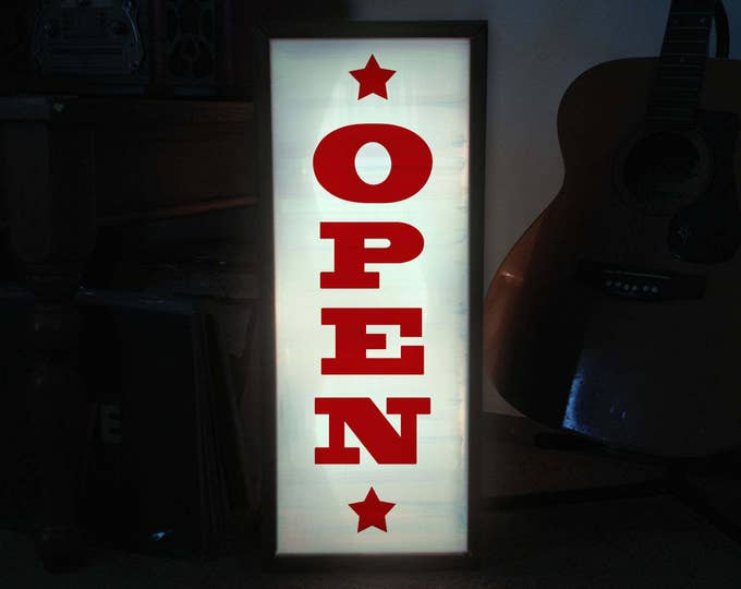 Open Sign, Lighted Open Sign, Western Sign, Open Closed Sign, Open Sign Light, LED Open Sign, Vintage Open Sign, Custom Light Box Sign