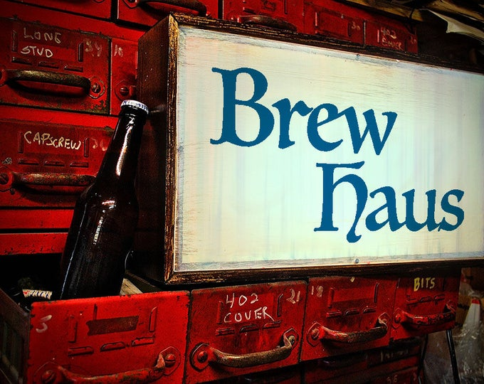 Beer Sign, Brewery Sign, Bar Sign, Brew Haus Sign, Vintage Beer Sign, Vintage Brewery Sign, Vintage Beer Light, Remote Control