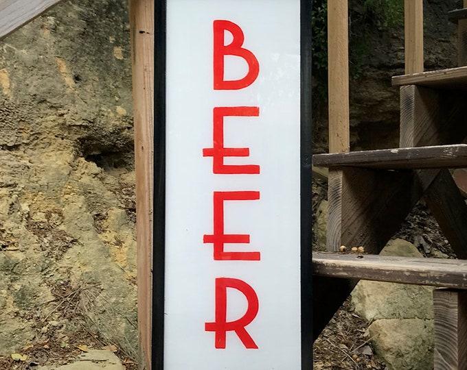Classic Art Deco Ultra Thin LED Custom Light Box Beer Sign