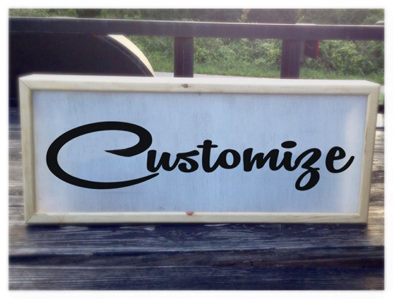 Custom Sign, Personalized Sign, Midcentury Modern Script, Custom Light Box  Sign  LED Sign, LED Light Box Sign, Custom Light Sign