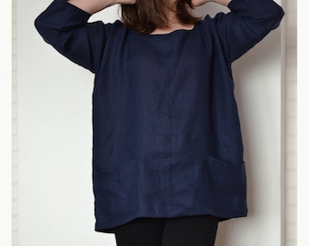 44f7667e002a Plus size linen blouse