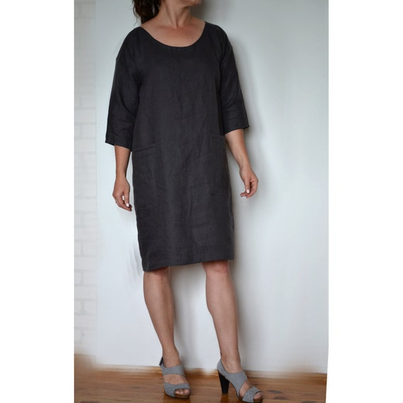 Plus size dress, Plus size linen dress, Linen dress, Womens Dresses, Loose  dress, Linen clothing, Oversized dress, linen dress for women