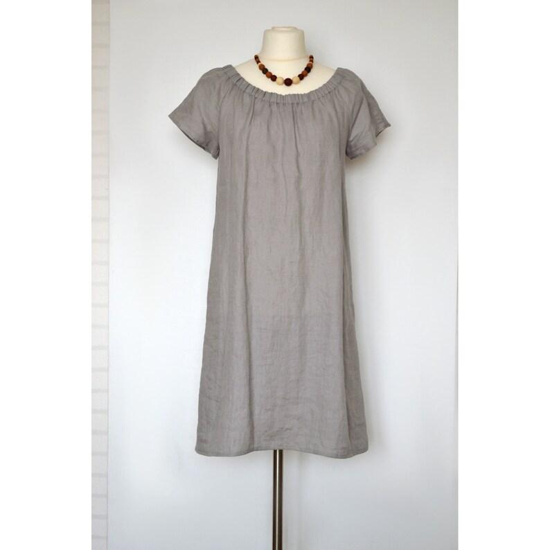 7a3c5cc82d Linen loose dress Midi dress Linen dress Oversized linen