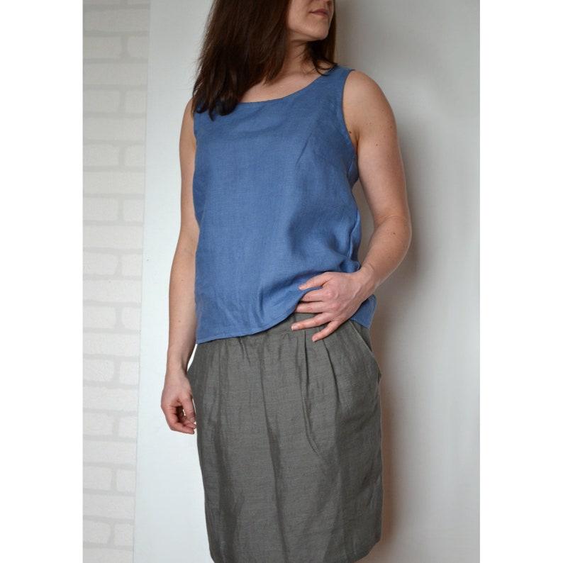 a191c0a72b07 Linen tank top sleeveless top linen top linen blouse linen