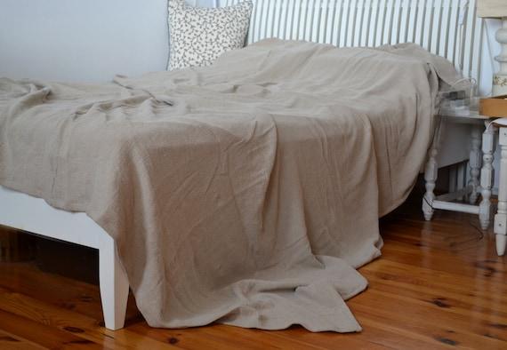 Colcha de lino colcha king manta rústica tiro de manta de | Etsy