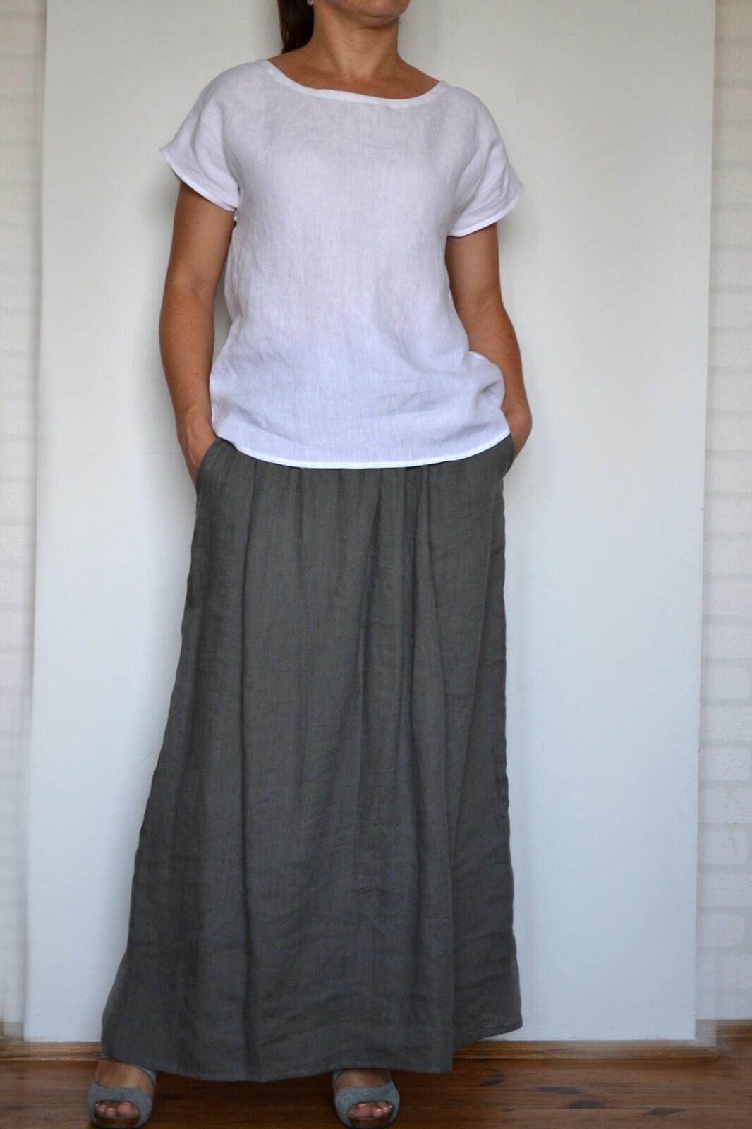 ba1609e0dd5f2 Linen top linen blouse linen shirt women summer tops top