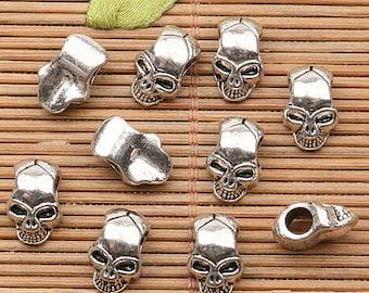 24PCS Tibetan silver tone hollow elephant design charms EF1740