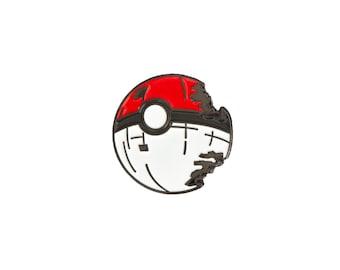 Pokeball Deathstar Enamel Pin - Soft Enamel Pin - Lapel Pin - Pokemon Pin - Star Wars Pin - Crossover Pin