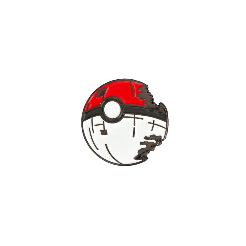Pokeball Deathstar Enamel Pin  Soft Enamel Pin  Lapel Pin  image 0