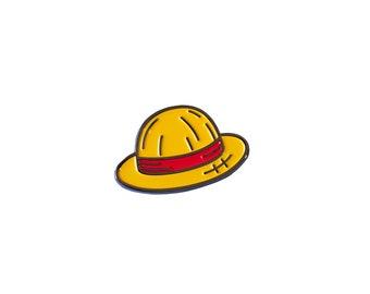 Straw Hat Enamel Pin - Soft Enamel Pin - Lapel Pin - Anime Pin - Pirate Pin - Manga Pin