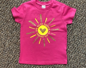 cfbb6e4d8 Sunshine Shirt, Girls Summer shirt, Summer Sun Shirt, Summer Clothes,  Summer shirt for Kids, Girl's Sunshine