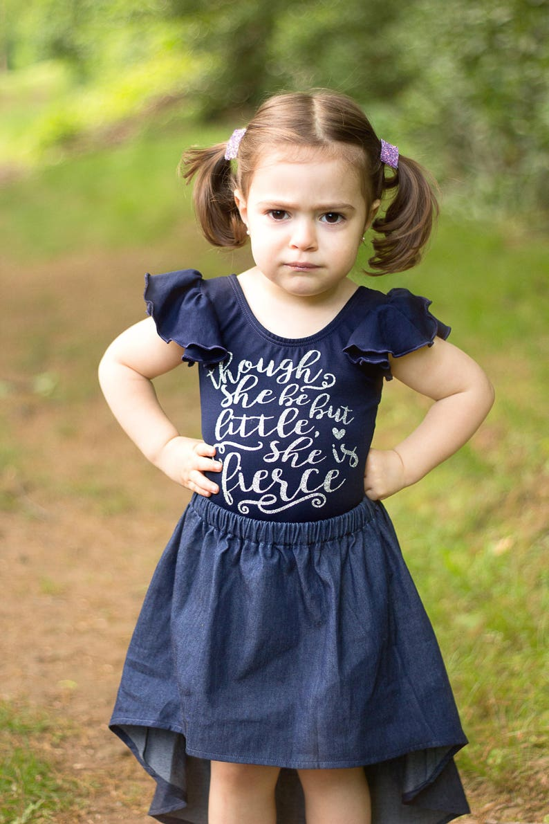 She Is Fierce Ruffled Boutique Outfit Toddler Infant Kids Winter Clothing