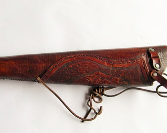 Archery Quiver, Leather Quiver, Archery Accessories, Flaming Arrow Quiver, Archery Kit, Archery Gift, Traditional Archery Quiver, Longbow