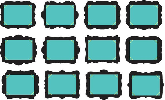 Scrapbook Frames Svg Scrapbooking Frames Cricut Eps Photo Etsy