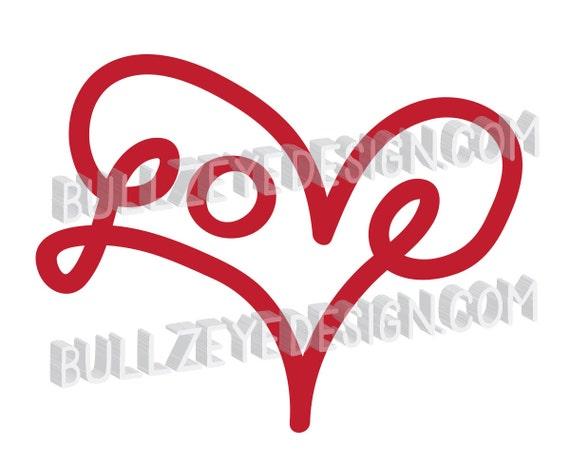 Love Heart Svg Vector Eps Heart Love Eps Heart Die Cut Etsy