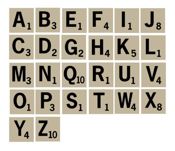 Letter Cutout Scrabble EPS Scrabble Cut File Scrabble Tiles SVG Scrabble Scrapbook Letter Stencils Cricut Scrabble Stencil SVG File