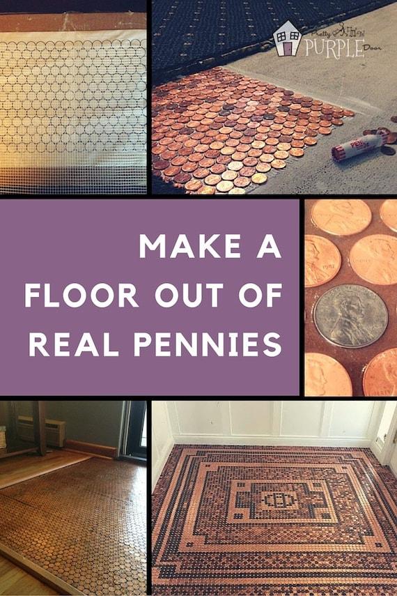 Penny Floor Template Penny Template Diy Penny Floor Penny Etsy