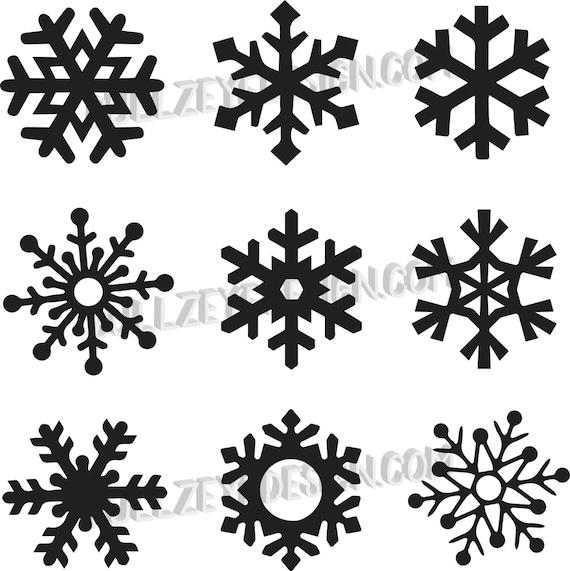 9 unique snowflakes vector snowflakes eps snowflakes svg etsy rh etsy com snowflake vector art free snowflake vector ai