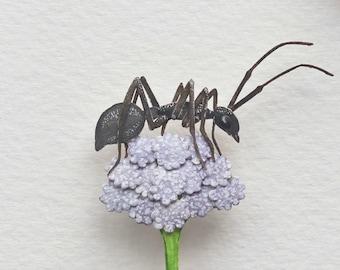 Pollinator - Ant - Carpenter ant - Pollination - art - Nature - ant art - wildlife - insect - watercolour art - paper cut - paper art