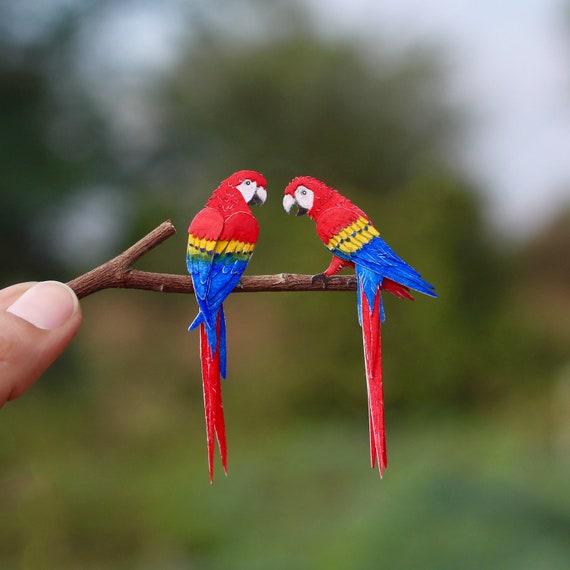 Art De Papercut Oiseau Ara Ara Ara Ara Oiseau Art Noel Etsy