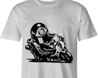 Barry Sheene Inspired Motorcycle T shirt