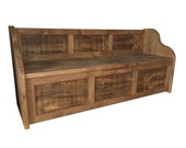 Rustic Style Window Seat - Bench - Settle - Pew with Storage bespoke Sizes available