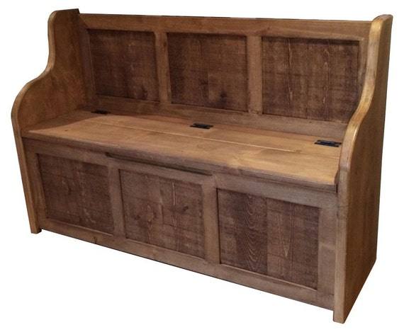 Astounding Rustic Style Monks Bench Settle Pew With Storage Bespoke Sizes Available Caraccident5 Cool Chair Designs And Ideas Caraccident5Info