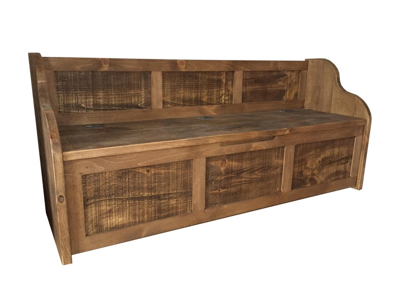 Groovy Rustic Style Window Seat Bench Settle Pew With Storage Bespoke Sizes Available Caraccident5 Cool Chair Designs And Ideas Caraccident5Info