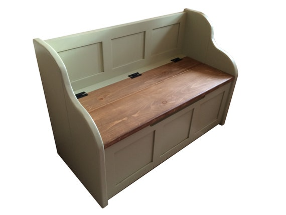 Swell Rustic Style Window Seat Bench Settle Pew With Storage Can Be Made To Any Size Caraccident5 Cool Chair Designs And Ideas Caraccident5Info