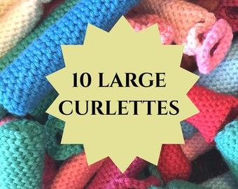 Curlettes: Large size. PACK OF 10. Great for longer hair and loose curls!