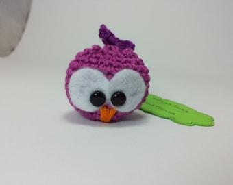 Gufetto Amigurumi - portachiavi - owl